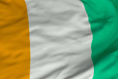 Detailed 3D rendering closeup of the flag of the Ivory Coast.  Flag has a detailed realistic fabric texture and an accurate design and colors. Reklamní fotografie