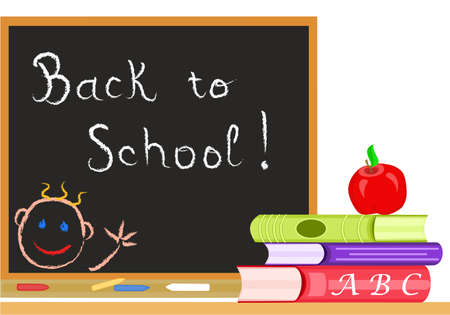 Back to School in September. Vector file saved as AI8, all elements layered and grouped Vector