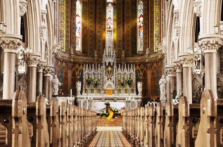 Golden light of God - beautiful church altar photo