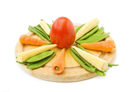 Healthy cooking with fresh vegetables Stock Photo - 5489350