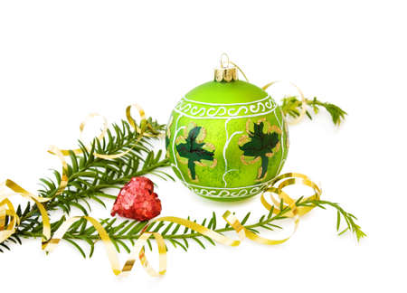 Irish Christmas with green bauble and shamrock Stock Photo - 5837525