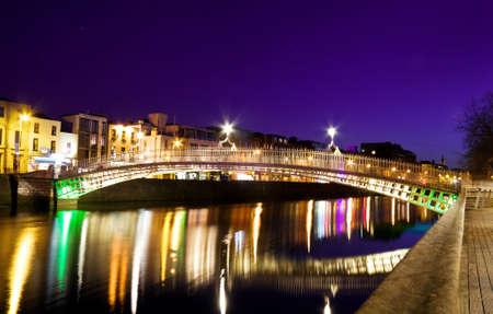 The Hapenny Bridge - symbol of Dublin Stock Photo