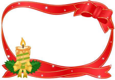 Vector Christmas golden candle border Vector
