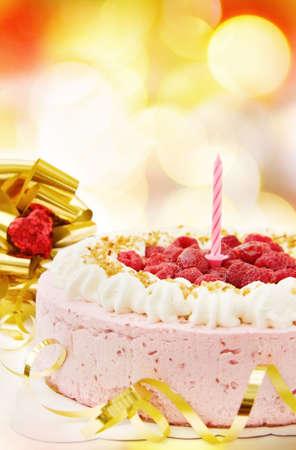 Festive celebration with raspberry cake Stock Photo - 6196714