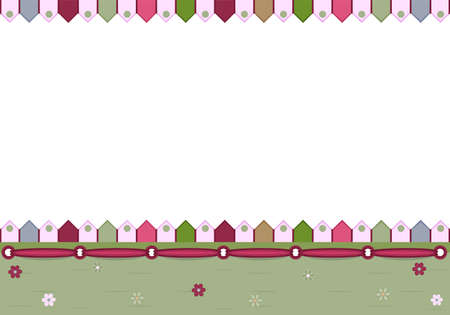 Blank greeting card - illustration Vector
