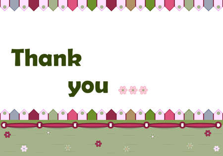 thank you card: Thank you card -illustration