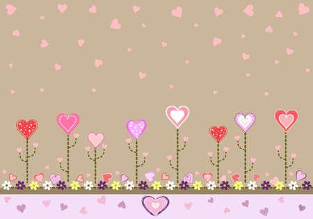 I love you card -  illustration