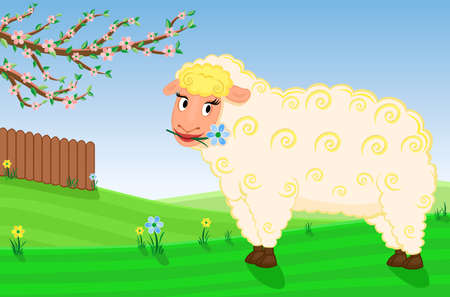 Spring on the animal farm - vector EPS AI8 Stock Vector - 6517515