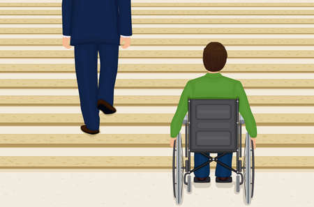 Helpless in a wheelchair - AI8 Stock Vector - 6775204