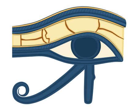 ojo de horus: El ojo de Horus (ojo de Ra, Uadyet) cree por los antiguos egipcios que tienen poderes curativos y protecci�n. Guarda como AI8. Vectores