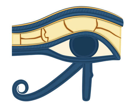 The Eye of Horus (Eye of Ra, Wadjet) believed by ancient Egyptians to have healing and protective powers. Saved as AI8.