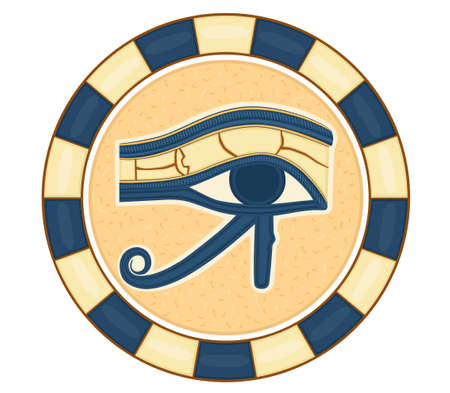 The Eye of Horus (Eye of Ra, Wadjet) believed by ancient Egyptians to have healing and protective powers. Vector