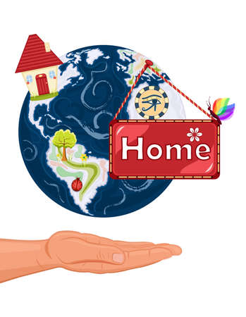 Save our home planet  the Earth Vector