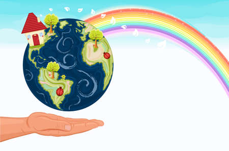 Fight against global warming -  EPS AI8 Vector
