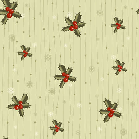 Christmas seamless tile with holy.  Vector