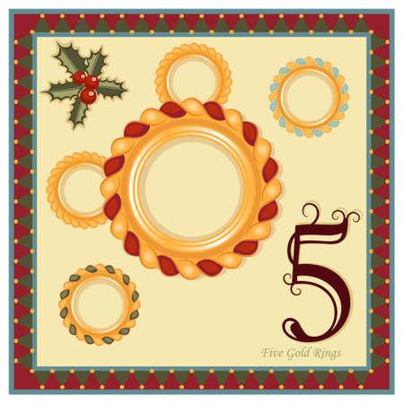 Risultati immagini per 12 days of christmas five