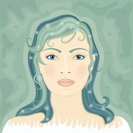 snow queen: Winter symbol - The Snow Queen Illustration