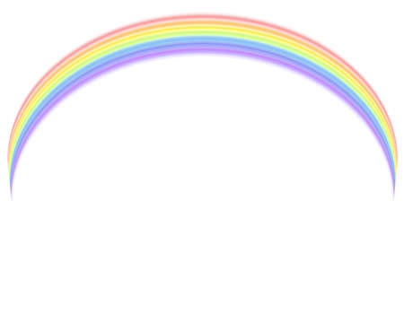Colorful rainbow over white background. Stock Vector - 8728980