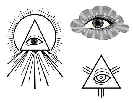 mirando: El ojo de la Providencia - s�mbolos. Vectores