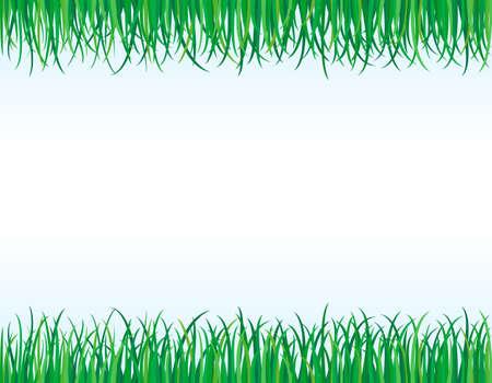 Eco friendly - green grass borders. Vectores