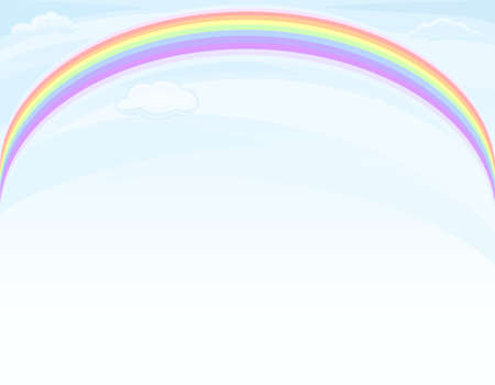 Beautiful nature - rainbow over blue sky Stock Vector - 9712950