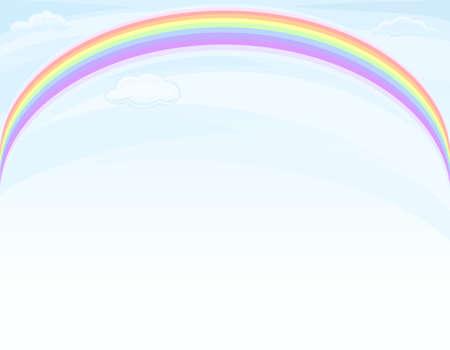 Beautiful nature - rainbow over blue sky