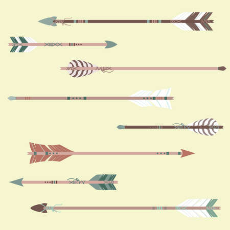 Vector set of colorful ethnic arrows Zdjęcie Seryjne - 29784917
