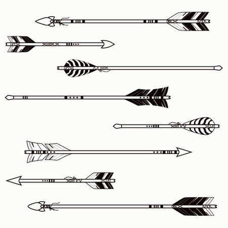 les arcs: Vector ensemble de fl�ches ethniques