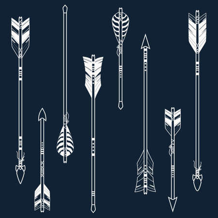 Vector set of ethnic arrows