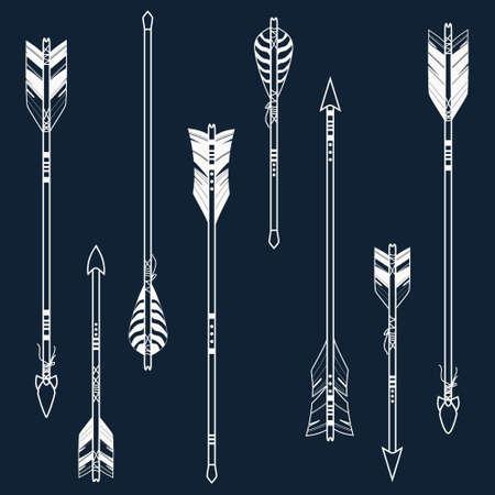 arco y flecha: Vector conjunto de flechas étnicos Vectores