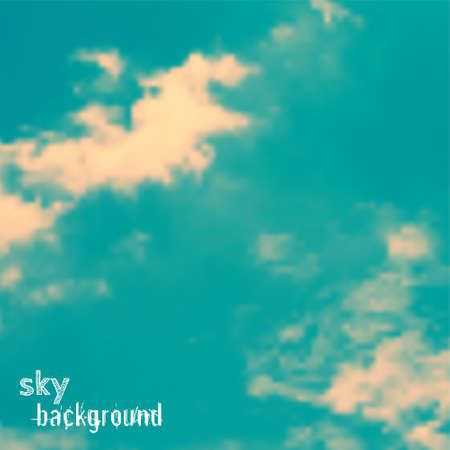 Vector background with sky and clouds