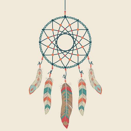 atrapasueños: Vector ilustración colorida del colector ideal