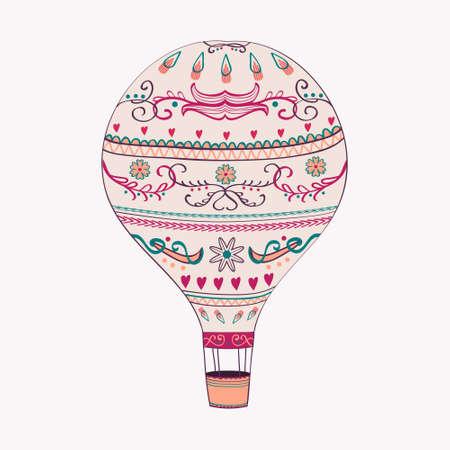 Vector illustration of hot air balloon Zdjęcie Seryjne - 30009132