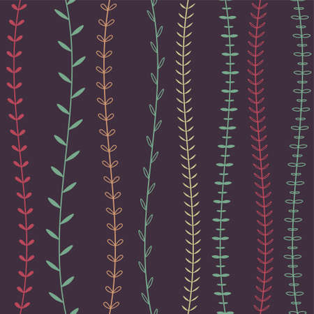 alga: Vector seamless decorative floral pattern