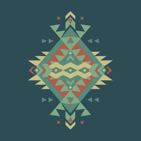 aztec art: Vector colorful decorative ethnic pattern Illustration