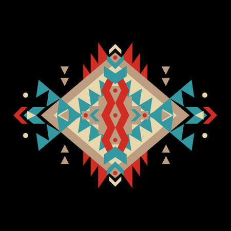 Vector colorful decorative ethnic pattern Vectores