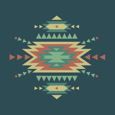 native american art: Vector colorful decorative ethnic pattern Illustration