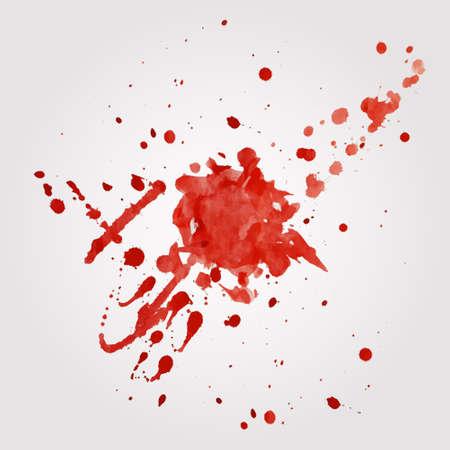 Vector blood splatter Stock Illustratie