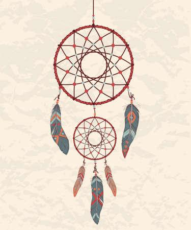 Vector colorful illustration of dream catcher Zdjęcie Seryjne - 30103843