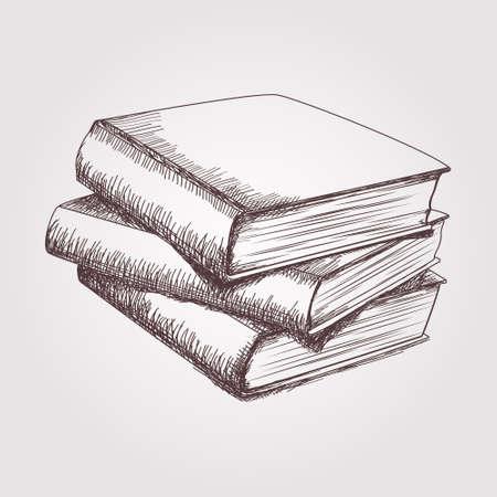 Vector schets van boeken stack