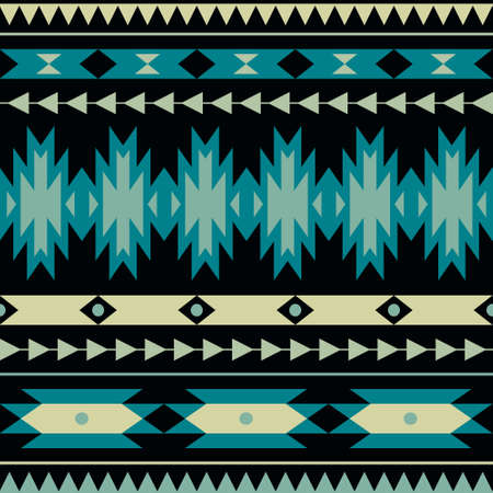 Vector seamless colorful decorative ethnic pattern Illusztráció