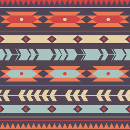 Vector seamless colorful decorative ethnic pattern Vector