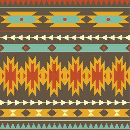 Vector seamless colorful decorative ethnic pattern Stock Illustratie
