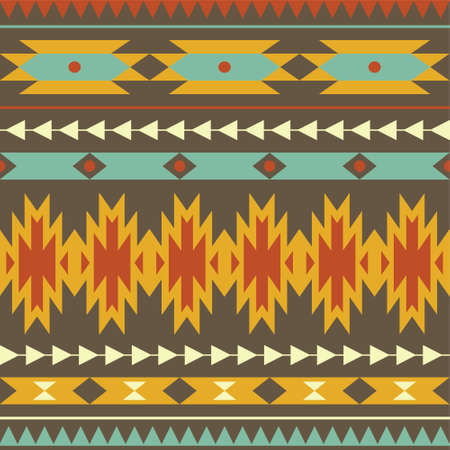 Vector seamless colorful decorative ethnic pattern Ilustracja