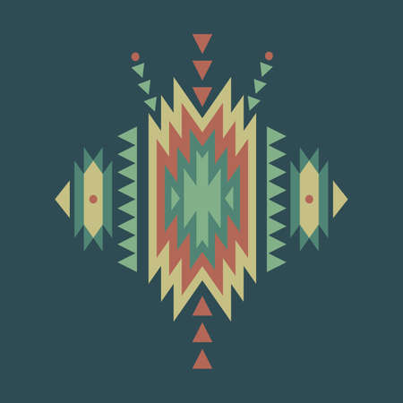cherokee indian: Vector colorful decorative ethnic pattern Illustration