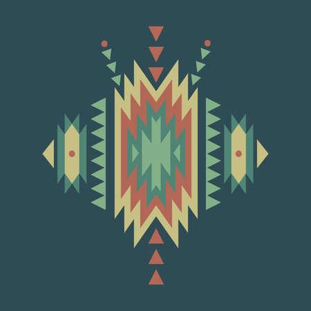 cherokee: Vector colorful decorative ethnic pattern Illustration