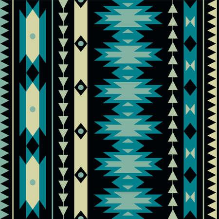 Vector seamless colorful decorative ethnic pattern Illustration
