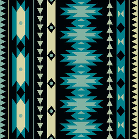 Vector seamless colorful decorative ethnic pattern Ilustração