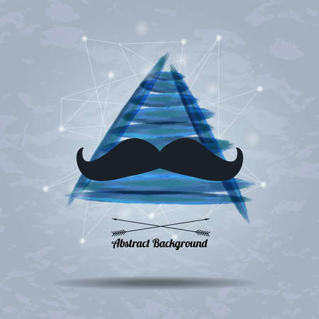 astral: Vector abstract hipster background with triangle and mustaches Illustration