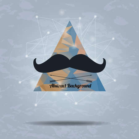 Vector abstract hipster background with triangle and mustaches Stock Vector - 30608812